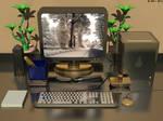 Gold And Black Desk