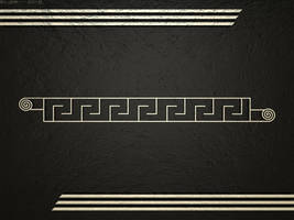 Black And Gold Art Deco Inspired Wallpaper by JohnK222