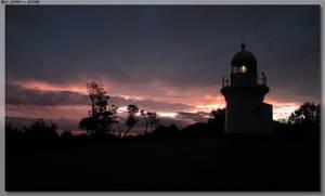 Lighthouse Sunset by JohnK222