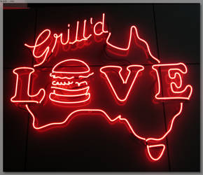 Neon Grill'd Sign - LOVE by JohnK222