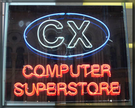 CX Computer SuperStore Neon Sign by JohnK222