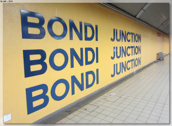 Bondi Junction Station Sign by JohnK222