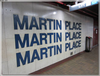 Martin Place Station Sign by JohnK222