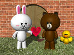 Line Friends by JohnK222