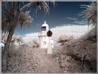 Fingal Head Lighthouse - IR by JohnK222