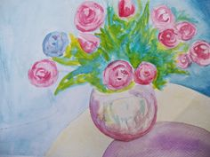 Vase of Roses by SerenaMichelleArt