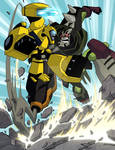 Bumblebee vs Lockdown Animated