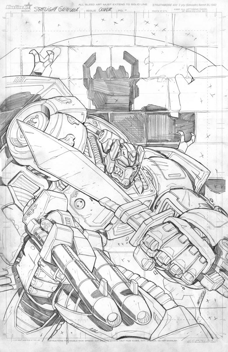 [Pro Art et Fan Art] Artistes à découvrir: Séries Animé Transformers, Films Transformers et non TF Grimlock_cover_01_pencil_by_mmatere