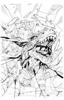 Grimlock cover B pencil by MarceloMatere