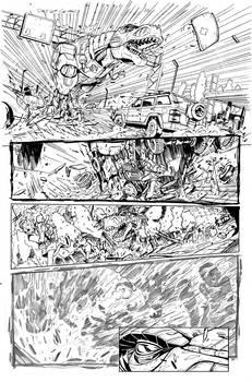 Grimlock page 10 inks