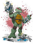 Ninja Turtle Raphael in colors