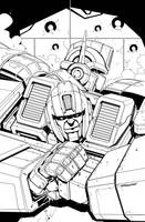 Ironhide 1 alt Cover inks by MarceloMatere