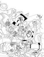 Cover Almanak Allspark 2 ink by MarceloMatere