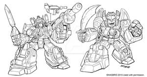 Robot Heroes Japanese G1 guys