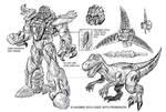 Universe Dinobot Concept art