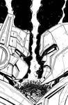 War for Cybertron Cover inks