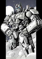 Optimus Prime Commission by MarceloMatere