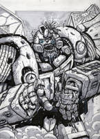 Bumblebee zombie sketch by MarceloMatere