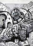 Bumblebee zombie sketch
