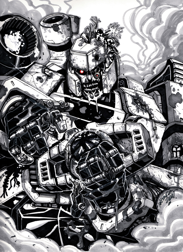 Megatron Zombie sketch by MarceloMatere