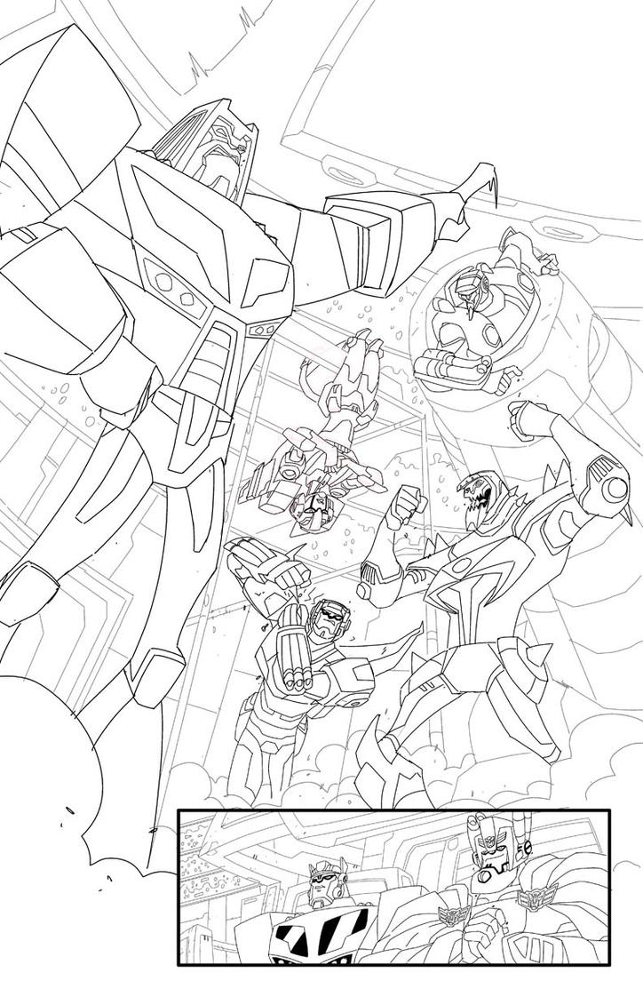 TF Animated Botcon page 7 inks by MarceloMatere