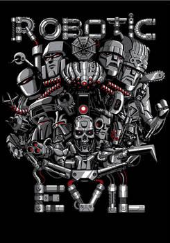 Robotic Evil - T-shirt Illustration