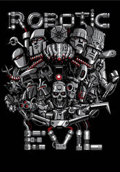 Robotic Evil - T-shirt Illustration