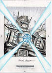 Optimus Prime sketch IDW TF Collection Black Label