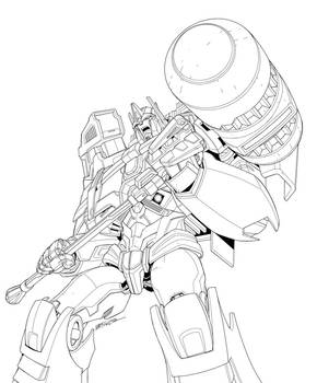 TF Platinum Ultra Magnus package art pencils