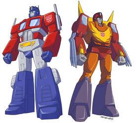 TF Optimus Prime and Rodimus Prime!