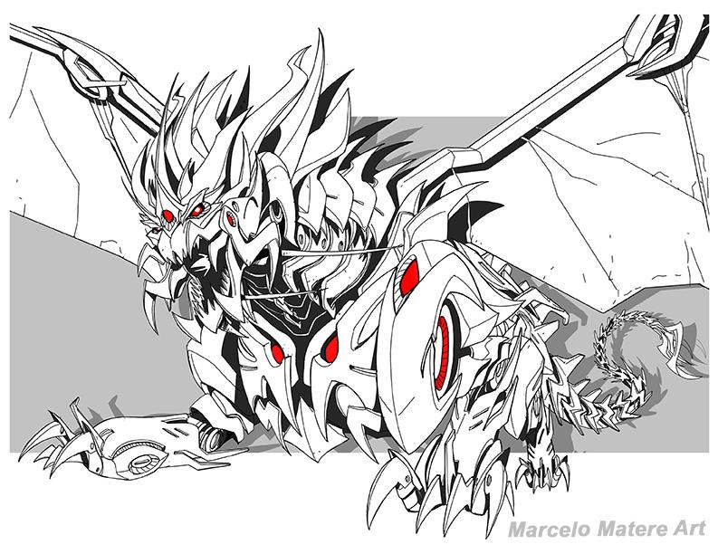 Transformers Prime Predaking by MarceloMatere