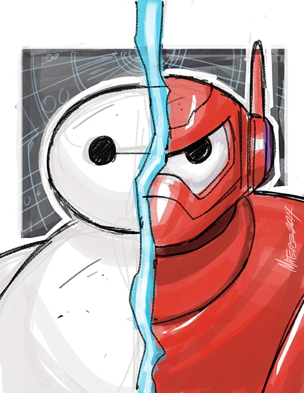Big Hero 6 Baymax Warmup Sketch By Marcelomatere On Deviantart