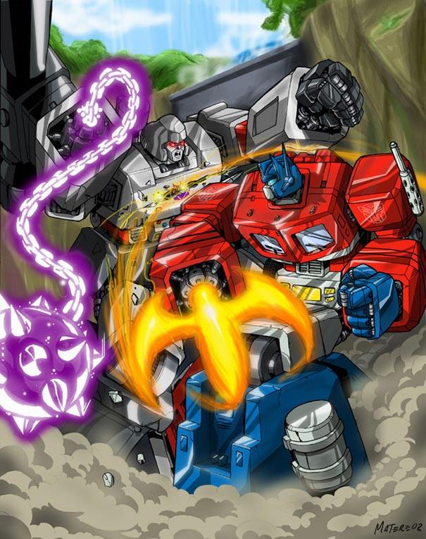 [Pro Art et Fan Art] Artistes à découvrir: Séries Animé Transformers, Films Transformers et non TF Prime_vs_Megatron_by_mmatere