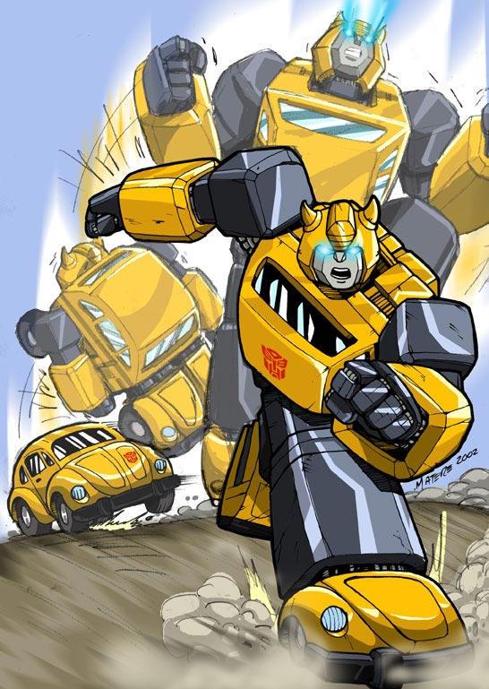 [Pro Art et Fan Art] Artistes à découvrir: Séries Animé Transformers, Films Transformers et non TF Bumblebee_atack_by_mmatere