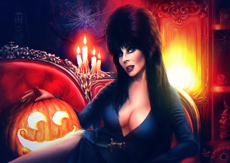 Elvira Halloween by junkome