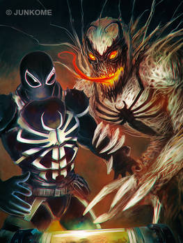 Agent Venom / Anti-Venom by junkome