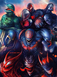 Symbiotes and Miles Morales by junkome