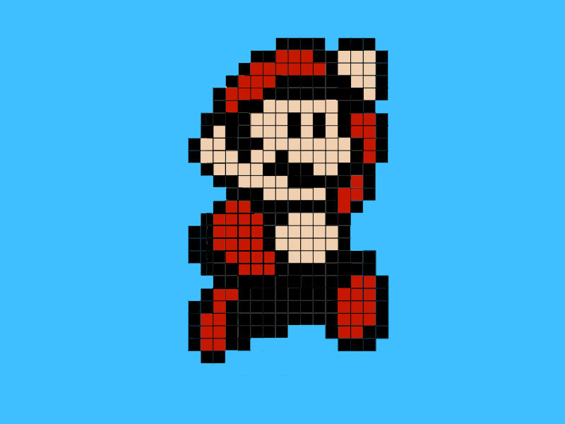 Pixel Mario by 8-BitPower