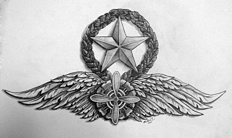 Air Force Command Flight Engineer Wings By Krucifyd ...