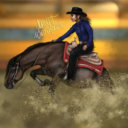 American Quarter Horse by NikolettWinterforest