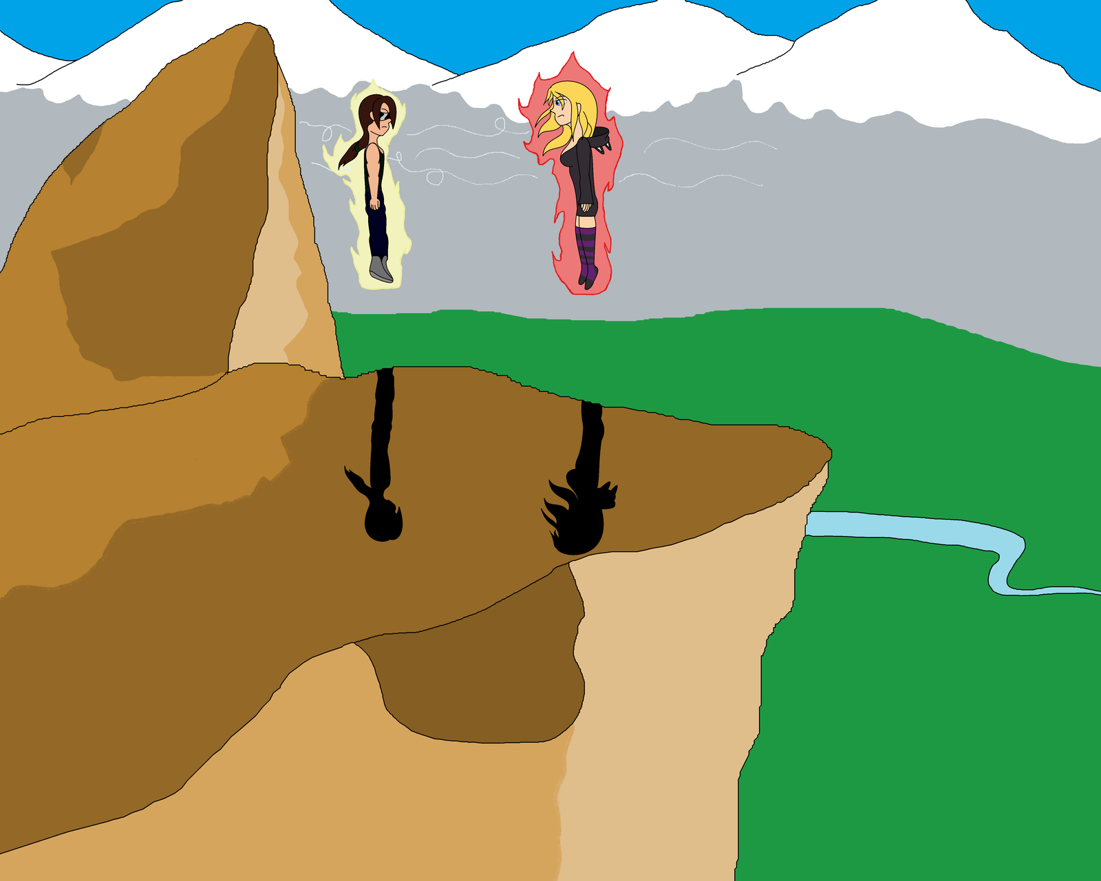 Artist Battle: MasterghostU vs InnocentTazzlet by MasterghostUnlimited