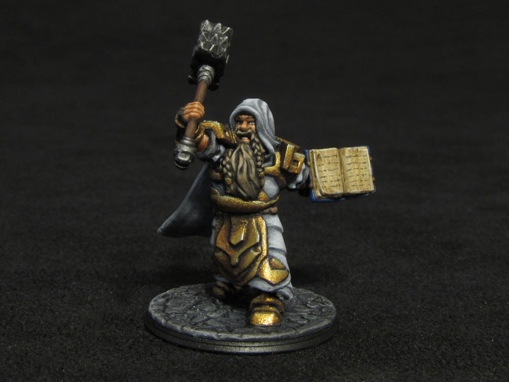Dwarf Cleric by Indefiknight