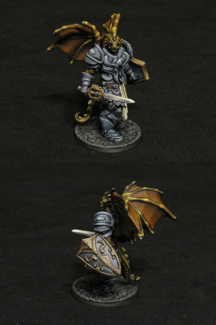 Half-Dragon Paladin by Indefiknight