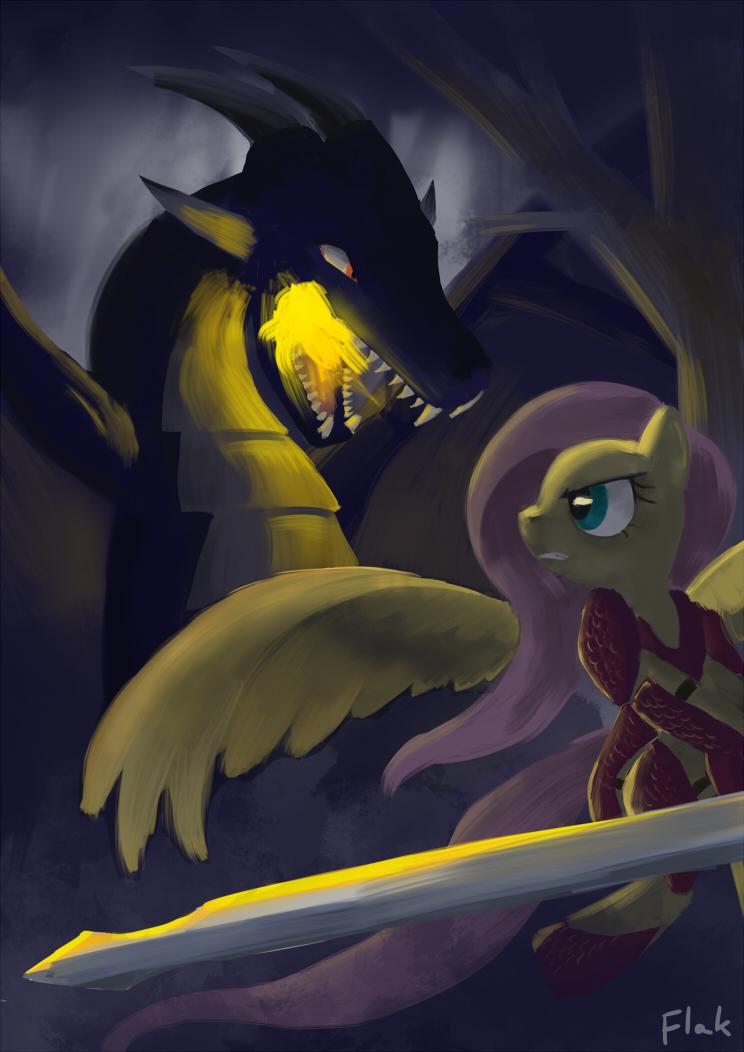 Fluttershy: Monster Hunter by flak--k