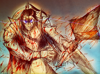 Sketch 11 23 13 Daigo Bloodbath by CyberMisadventures