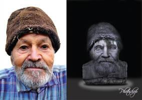 Digital Retouching Old Man