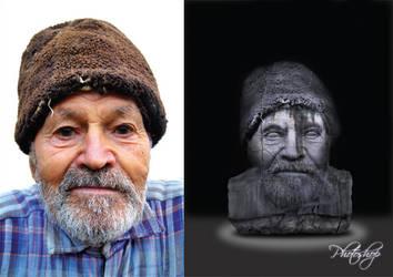 Digital Retouching Old Man by jpz001