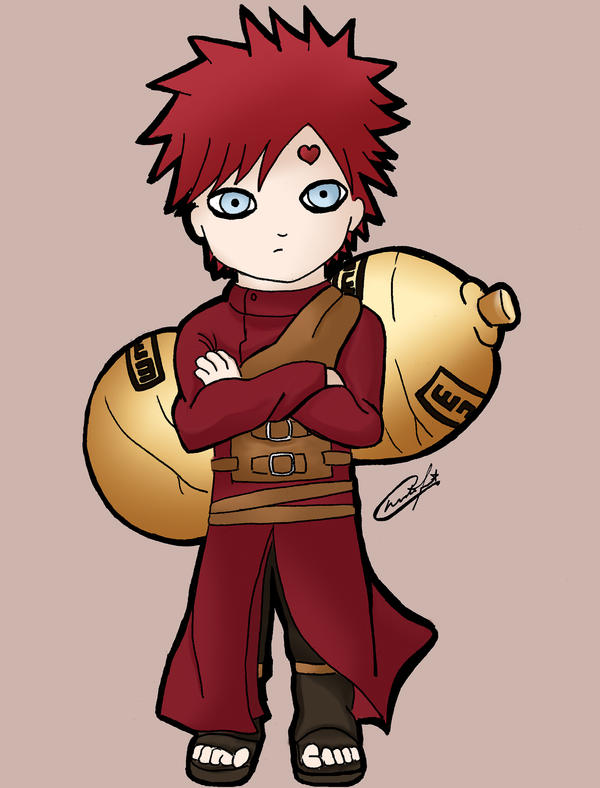 Chibi Gaara by stardustx15 on DeviantArt Gaara And Naruto Chibi