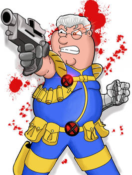 Peter Griffin as Cable (color)