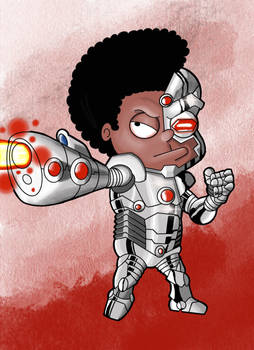 Rallo Tubbs as Cyborg  (color)
